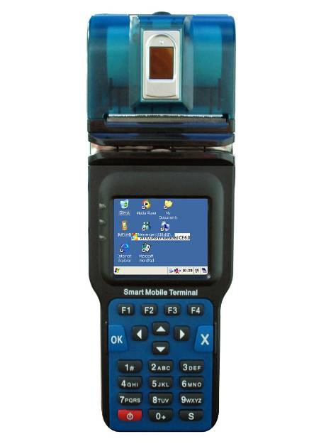 2.4 inch Wifi bluetooth GPS 3G GPRS POS windows CE6.0 Thermal printer PDA handhelds terminals mobile computer